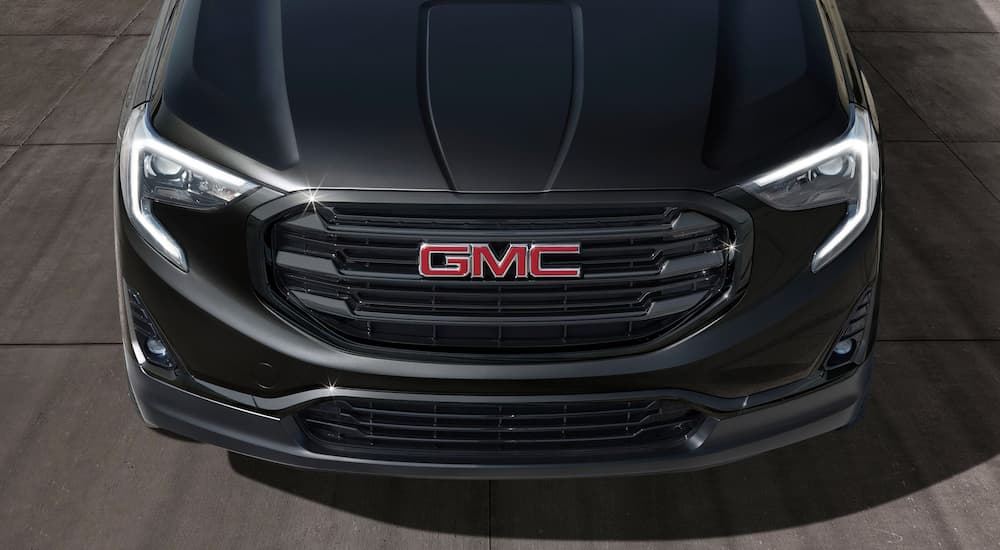 The front end of a Black Edition 2019 GMC Terrain is shown.